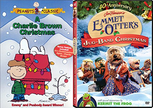 Family and Kids Christmas DVD Bundle - Jim Henson's Emmet Otter's Jug-Band Christmas (40th Anniversary) & Peanuts A Charlie Brown Christmas 2-Classic Movie Bundle (Open Hours Christmas All)
