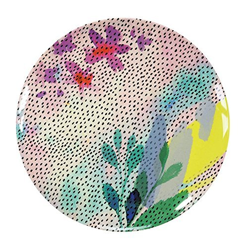 Talking Tables Fluorescent Floral Melamine Plate, Multicolor]()