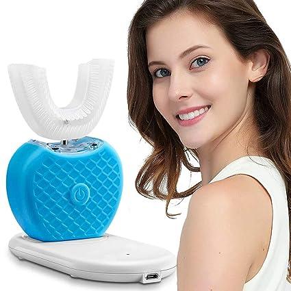 CSFM-Face En Forma de U Cepillo de Dientes eléctrico Burbujeo automatico Dientes de Limpieza