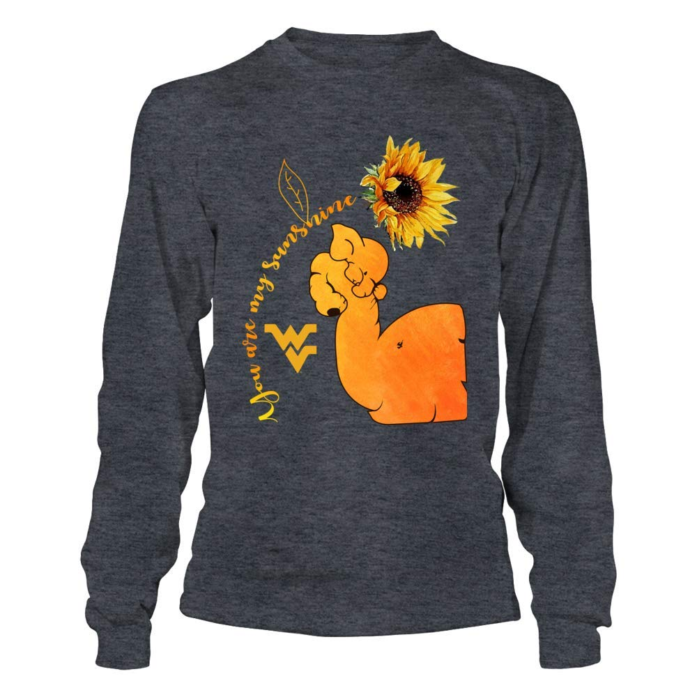 Elephants FanPrint West Virginia Mountaineers T-Shirt You are My Sunshine