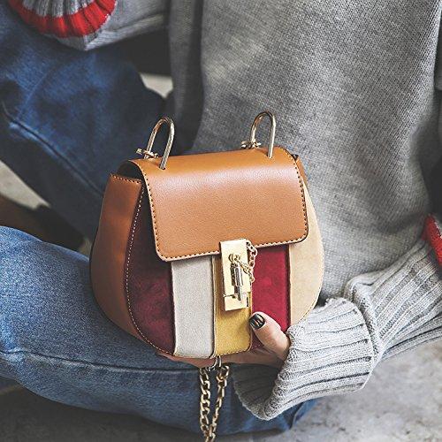 Messenger Brown brown Bolsa OME Bolso amp;QIUMEI Cadena Bag Única wCcXqqBx08