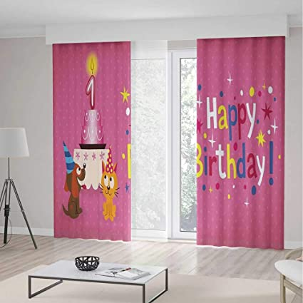 Window Curtains1st Birthday DecorationsTheme Home Decor Dining Room Bedroom Curtains For Kids