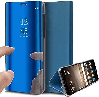 Ukayfe Custodia Galaxy A20e,Specchio Custodia in Pelle PU e Duro PC Ultra Slim Portafoglio Flip Case con Stand Funzione dei 360 Gradi Protezione Mirror Cover Compatibile con Samsung Galaxy A20e-D'Oro
