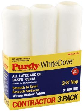 Purdy White Dove 9 in. x 3/8 in. Dralon Roller Covers (3-Pack)-14F863000 - The Home Depot