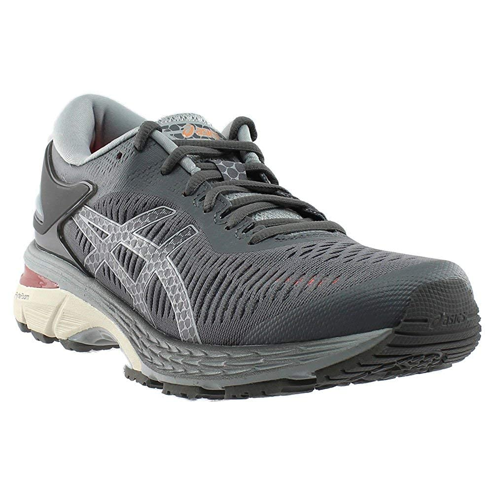Carbon-Mid Grey ASICS GelKayano 25 (D Wide) shoes Women's Running