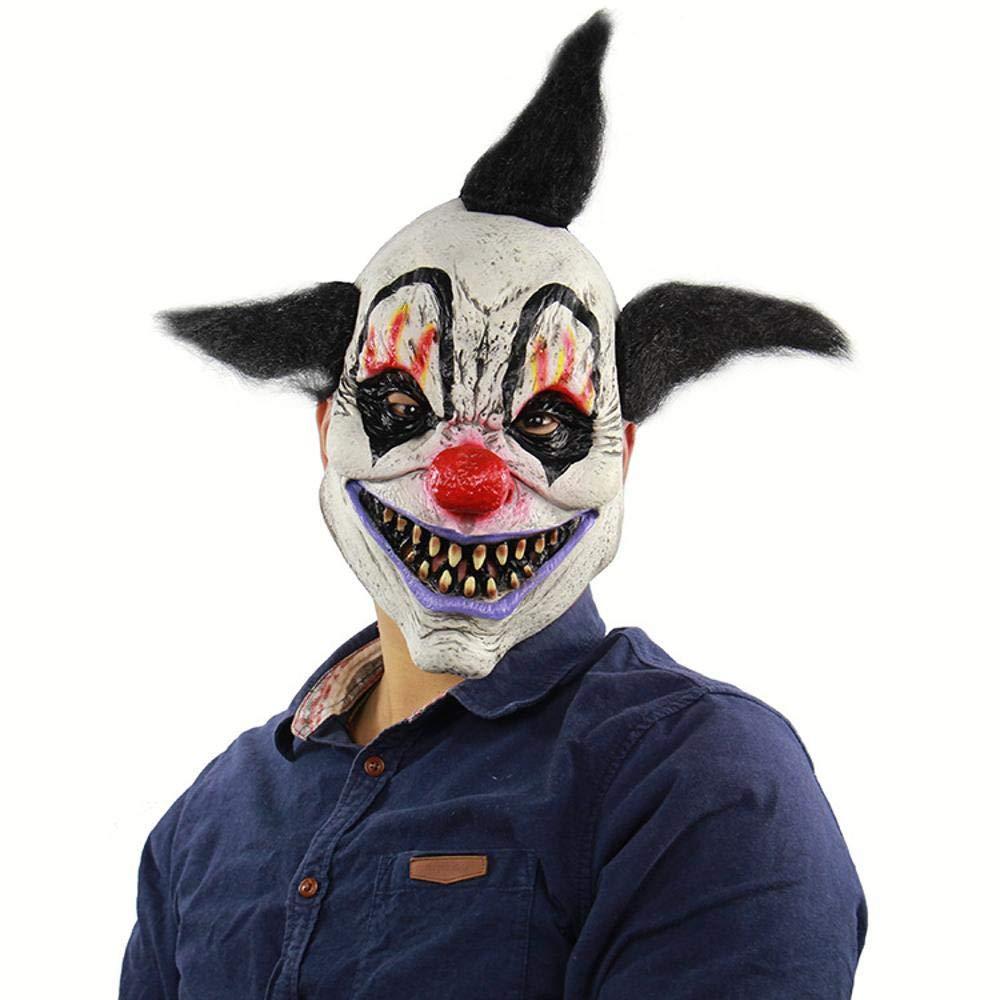 Circlefly Casa stregata di Halloween orrore guidata maschera da Clown, fuga vestire spaventoso parrucca per adulti bambini