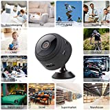 Mini Hidden Camera Spy Cam WiFi Small Wireless Full HD 1080P Video Camera with Night Vision Motion Sensor for iPhone Android Video Detection Security Nanny Surveillance Cam