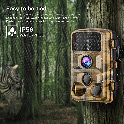 "【2020 Upgrade】Campark Trail Camera-Waterproof 16MP 1080P Game Hunting Scouting Cam with 3 Infrared Sensors for Wildlife Monitoring with 120°Detecting Range Motion Activated Night Vision 2.4"" LCD 42pcs"