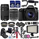 Canon EOS 80D DSLR Camera Bundle with Canon EF-S 18-135mm f/3.5-5.6 IS STM Lens + Canon EF 75-300mm f/4-5.6 III Lens