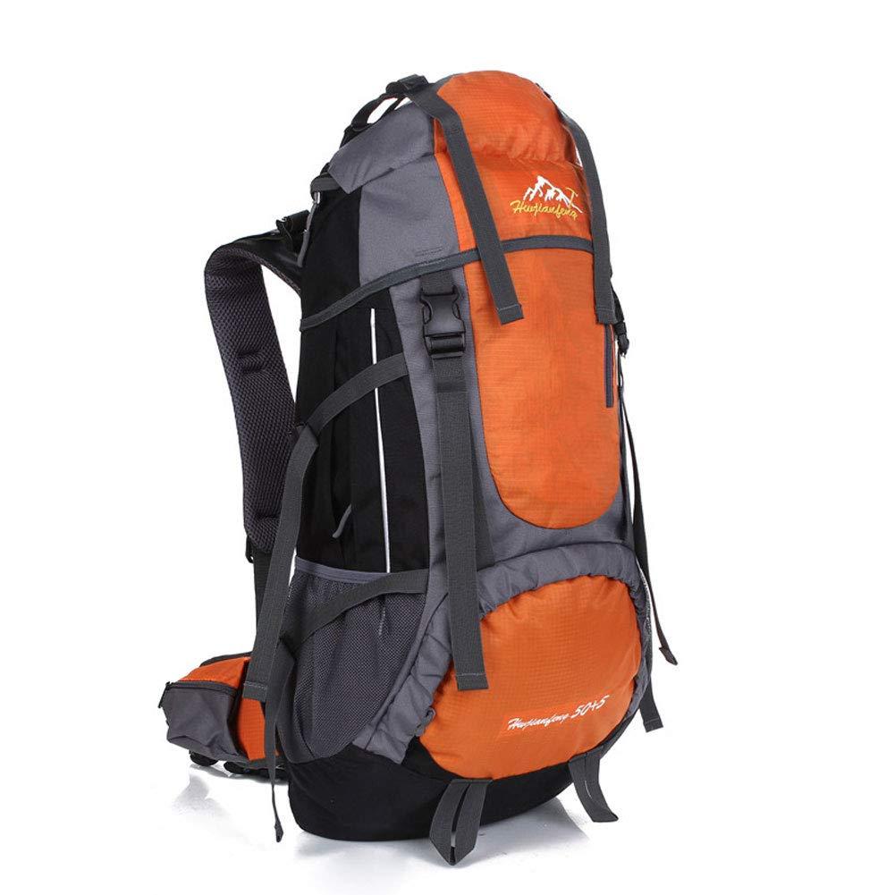 Orange  WLEI Sac à Dos de randonnée Sportive imperméable - Sac à Dos de Grande capacité pour Le Voyage en Plein air, Ergonomique, idéal pour Les Voyages en Camping,rouge
