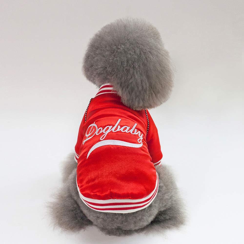 HUAIX petsuppliesmisc Autunno e Inverno Nuovi Vestiti di Cotone per Cani Pet Forniture all'Ingrosso Vestiti per Animali Vestiti per Cani Autunno e Inverno 18 Vestiti di Baseball Cappotto