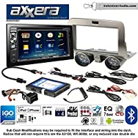 Volunteer Audio Axxera AVN6558BT Double Din Radio Install Kit with Navigation Bluetooth CD/DVD Player Fits 2010-2015 Chevrolet Camaro
