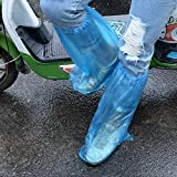 HUABEI 30 Pack Disposable Shoe Covers Blue Rain