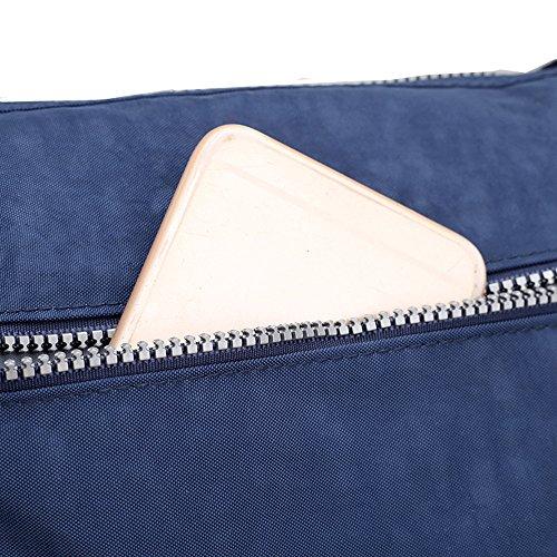 en les Rose Sacoche imperméable femme nylon main tout tous Sac Sac Fourre Sac à à Pochette pour à bandoulière nombreuses jours poches pour YqZCBTWxwH