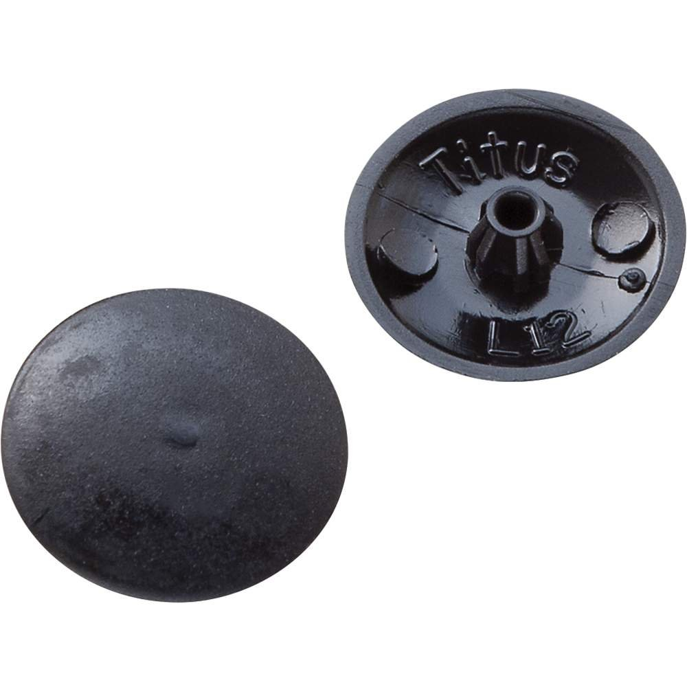 Screw Cap Covers for Phillips and Square X Black 100 per Pack