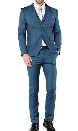 MOGU - Traje - para Hombre Azul Azul Marino XXXL: Amazon.es ...