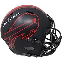 $299 » Andre Reed Signed Buffalo Bills Eclipse Black Matte Riddell Speed Full Size Helmet w/HOF'14 - Schwartz Authentic