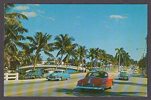 Cadillac on Las Olas Boulevard Ft Lauderdale FL postcard - Boulevard Olas Los