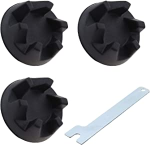 Micro Traders 3Pcs 9704230 Blender Coupler Gear Rubber Clutch Coupling Black & Removal Tool Compatible with KitchenAid KSB3 KSB5