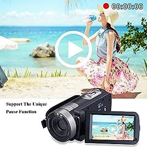 COMI Camcorder Full HD 1920x1080p 24.0 Megapixels Camera 3.0 Inch LCD 16x Digital Zoom 270 Degree Rotatable Screen Remoter