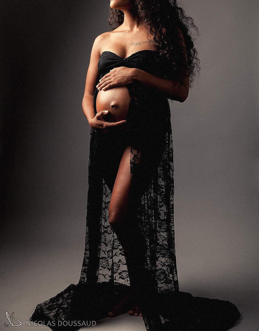 Schwangere Damen Maxikleid Umstandskleid Schwangere Fotografie Fotoshooting