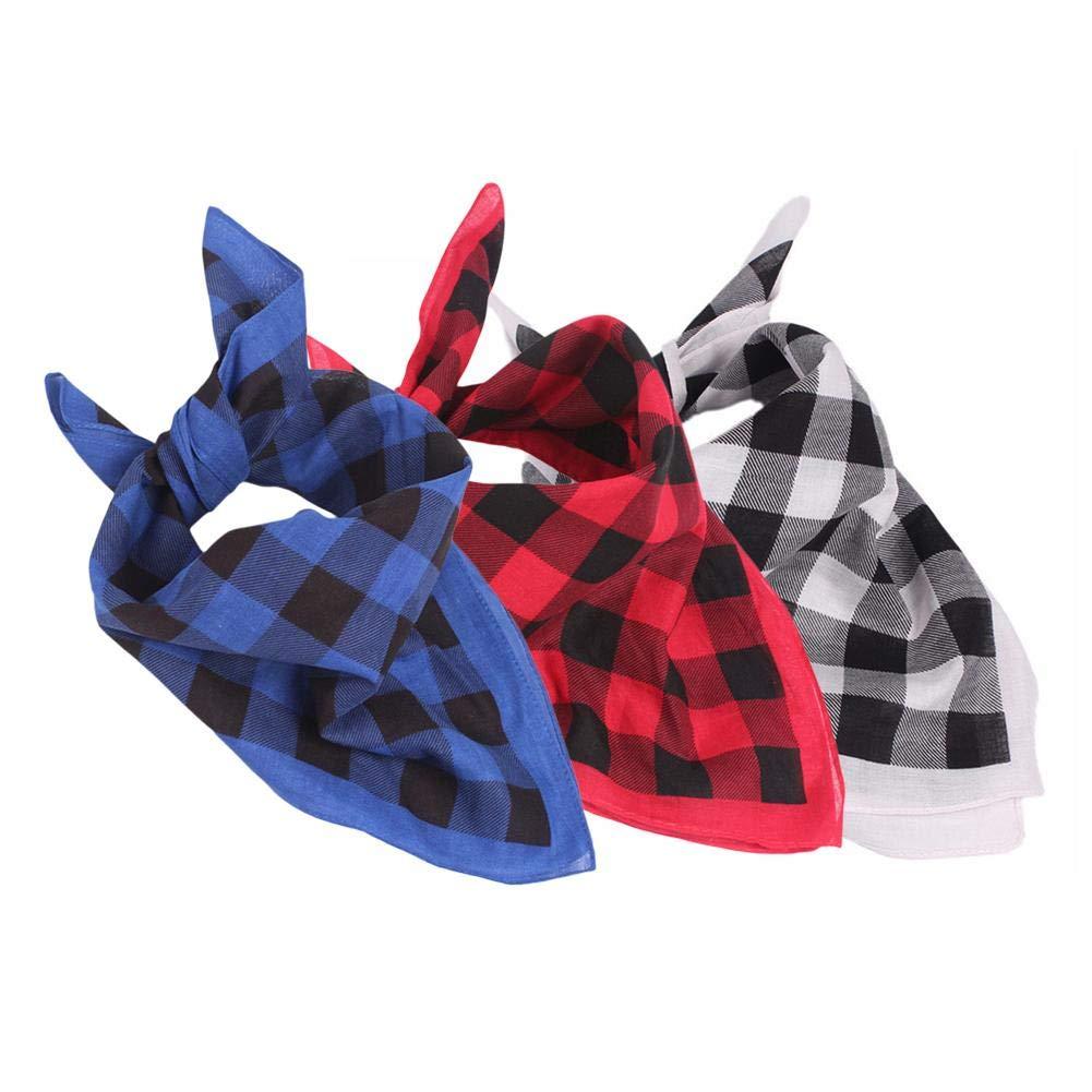 Unisex Bandanas Headscarf Headwear, Cotton Outdoor Riding Scarf Square Towel Sweat Towel All Matched Plaid Sports Headband Decorative Headscarf Forestwood