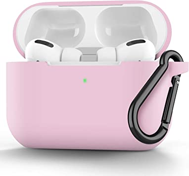Easyworld Compatible AirPods Pro Case Cover 2019 Upgrade Silicone Protective Cover for Airpod Pro Case Pink