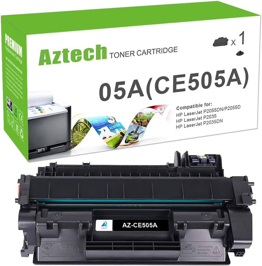 Aztech Compatible Toner Cartridge Replacement for HP 05A CE505A Laserjet P2035 P2035N P2055DN (Black, 1-Pack)