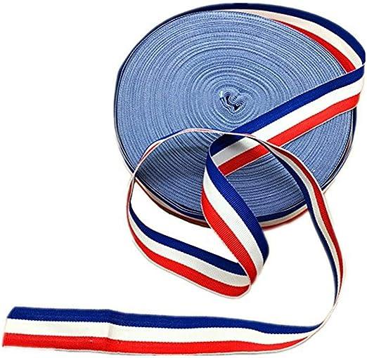 45 metros rojo blanco y azul de rayas grogrén cinta americana bandera patriótica Ribbon accesorio para hacer regalo: Amazon.es: Hogar