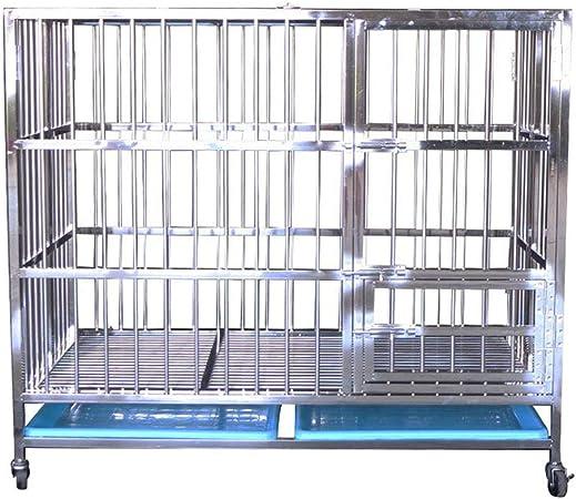 sortie de gros sélection premium comment trouver LTLJX Chien Cage Acier Inoxydable D'élevage Caisse Cage de ...