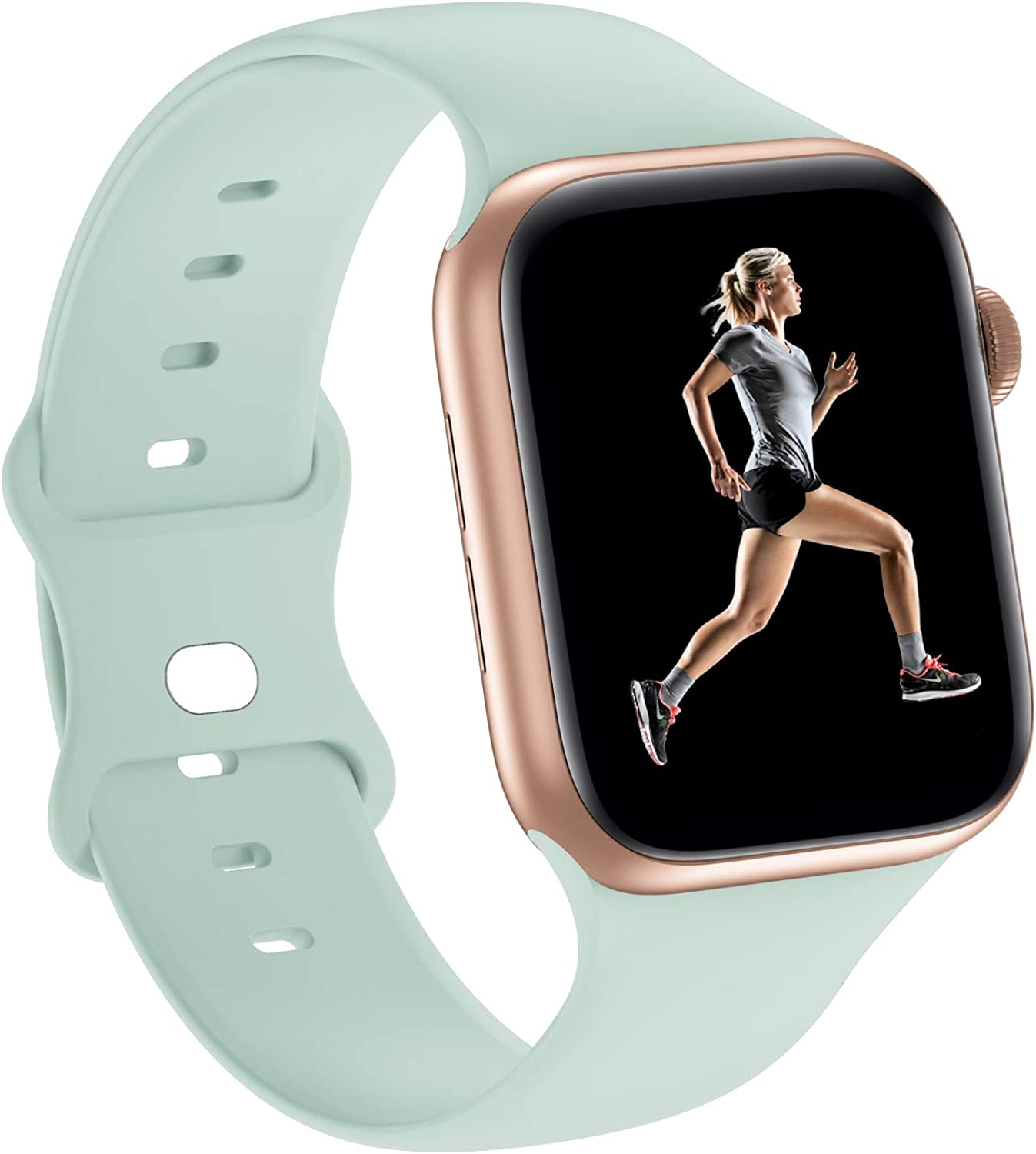 Sport Bands Silicone Compatible with Apple Watch Band 38mm 40mm 42mm 44mm,Replacement Strap Wristband for iWatch Series 6/5/4/3/2/1 SE