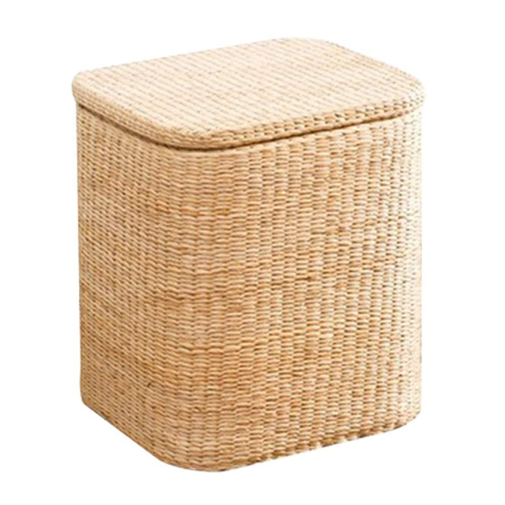 A2-45x34x40cm LSXIAO Pouffes And Footstools Square Structure Storage Stool Big Space Hand Made Lining Washable, 2 Sizes, 2 colors (color    B1-36x30x36cm)