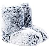Upper Canada Soap Cozy Queen Faux Fur Warming Slippers, Gray