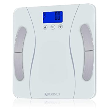 6a573e47c5dc MARNUR Bathroom Weight Scale Body Fat Scale BMI Smart Digital Scale with  Body Composition Analyze...