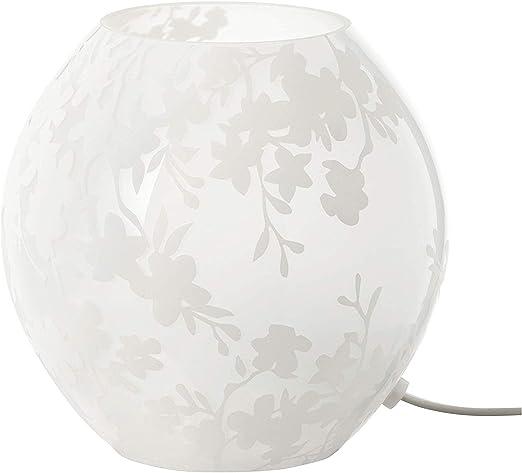 IKEA KNUBBIG - Lámpara de mesa, cerezos flores blancas - 18 cm ...