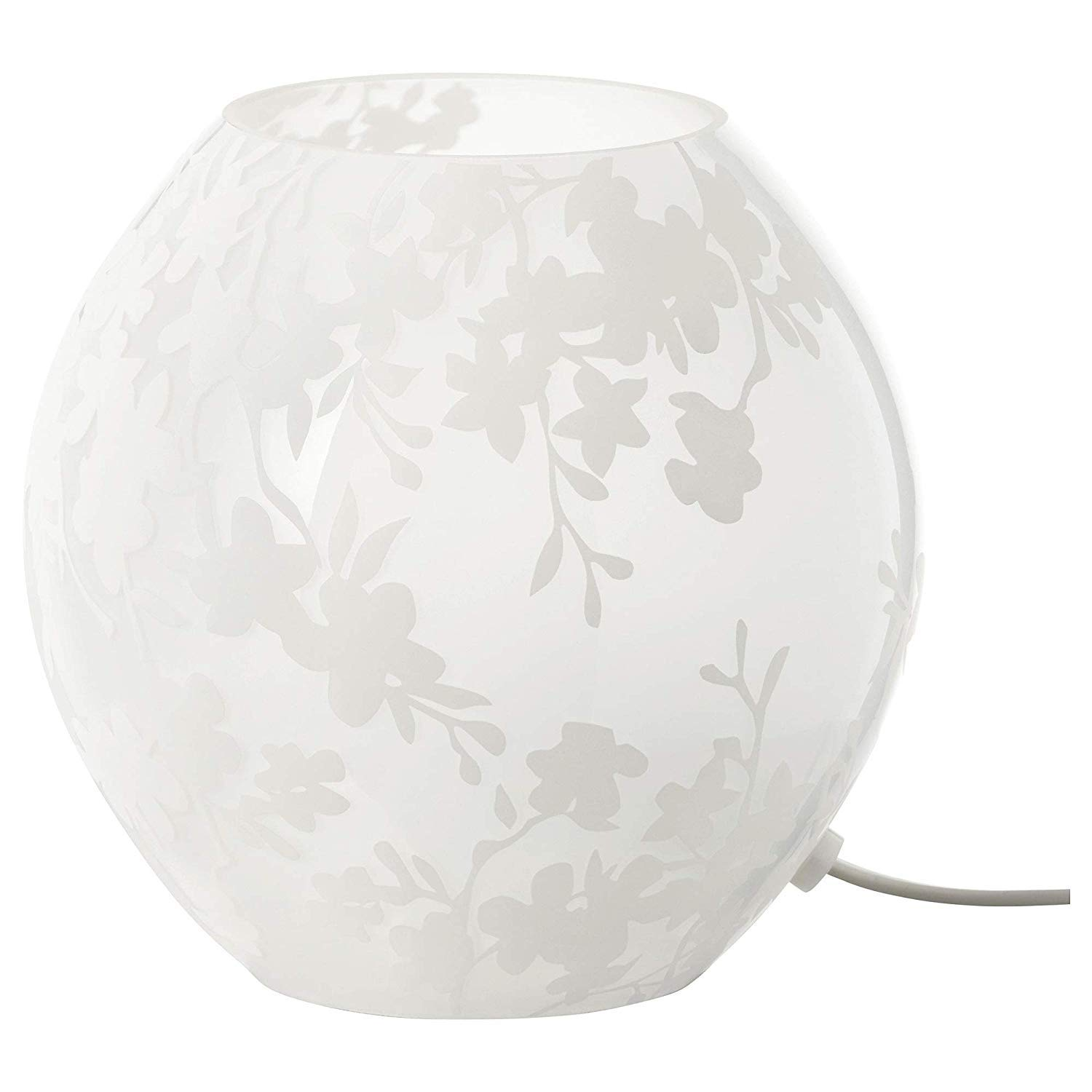 IKEA KNUBBIG Table lamp, cherry blossoms white 18 cm