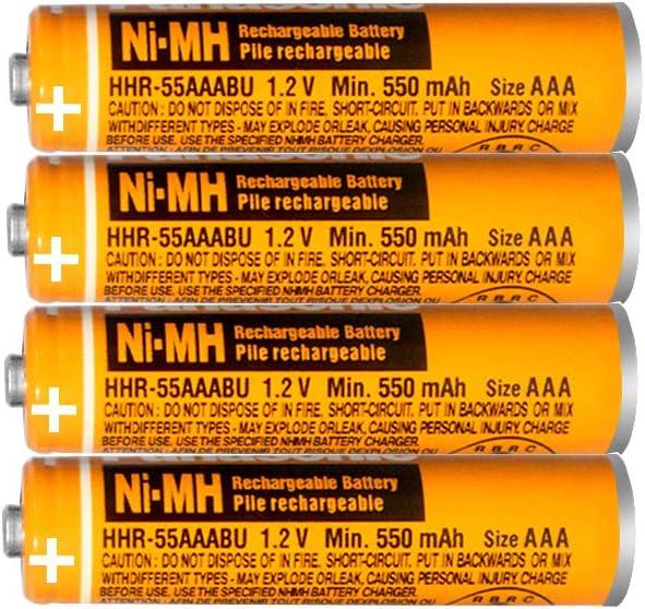 4 x pila ricaricabile aaa 550mah,Ni-MH Batterie Ricaricabili 1,2V /…
