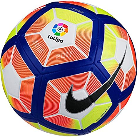 Nike Liga BBVA 2016/2017 Strike Football - Balón de fútbol, tamaño 5, color multicolor: Amazon.es: Deportes y aire libre