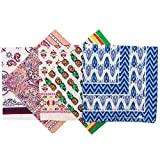 Elephant Brand Bandanas 100% Cotton Since 1898-5 Pack (Summer 2)