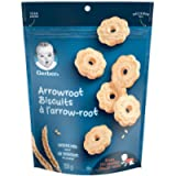 GERBER Biscuits Arrowroot, Baby Snacks, Biscuits, 10+ Months, 155 g, 4 Pack