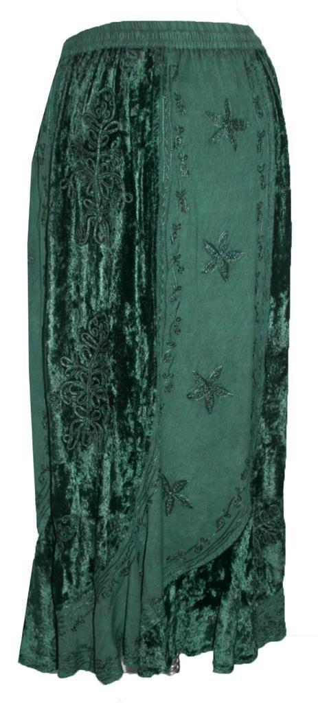 Agan Traders 552 Sk Dancing Gypsy Medieval Renaissance Vintage Skirt (L/XL, H Green) by Agan Traders (Image #2)