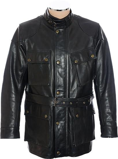 Vintage Leather Jacket >> Rtx Trialmaster Vintage Leather Jacket Amazon Co Uk Clothing