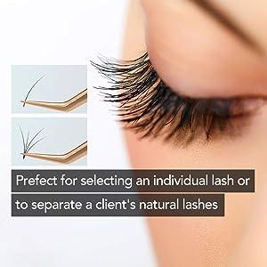 Best Tweezers for Eyelash Extension - Straight and J Curved Pointed Tweezers - Professional Stainless Steel Precision tweezers lash Tweezers Set 2 Pack (Rose-Gold)