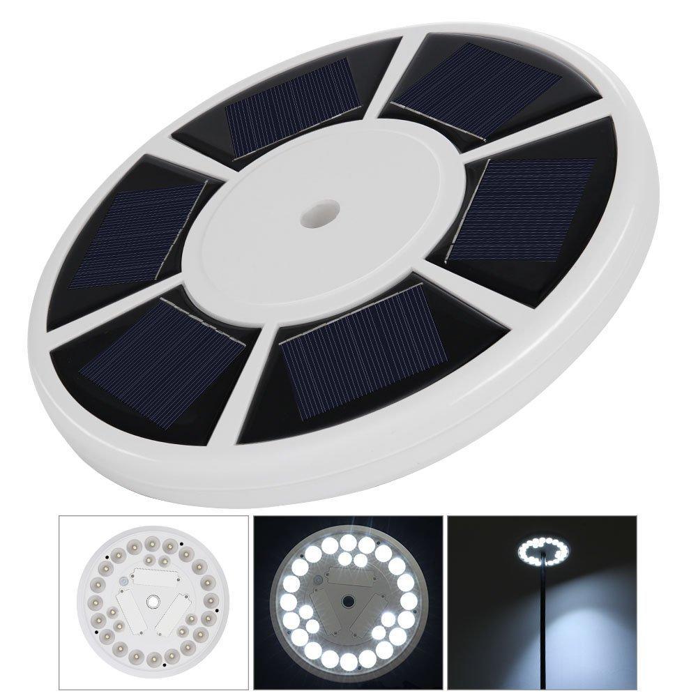 Myfei LED-Solar-Licht für Fahnenmast mit 26 Leuchten, wetterfest ...