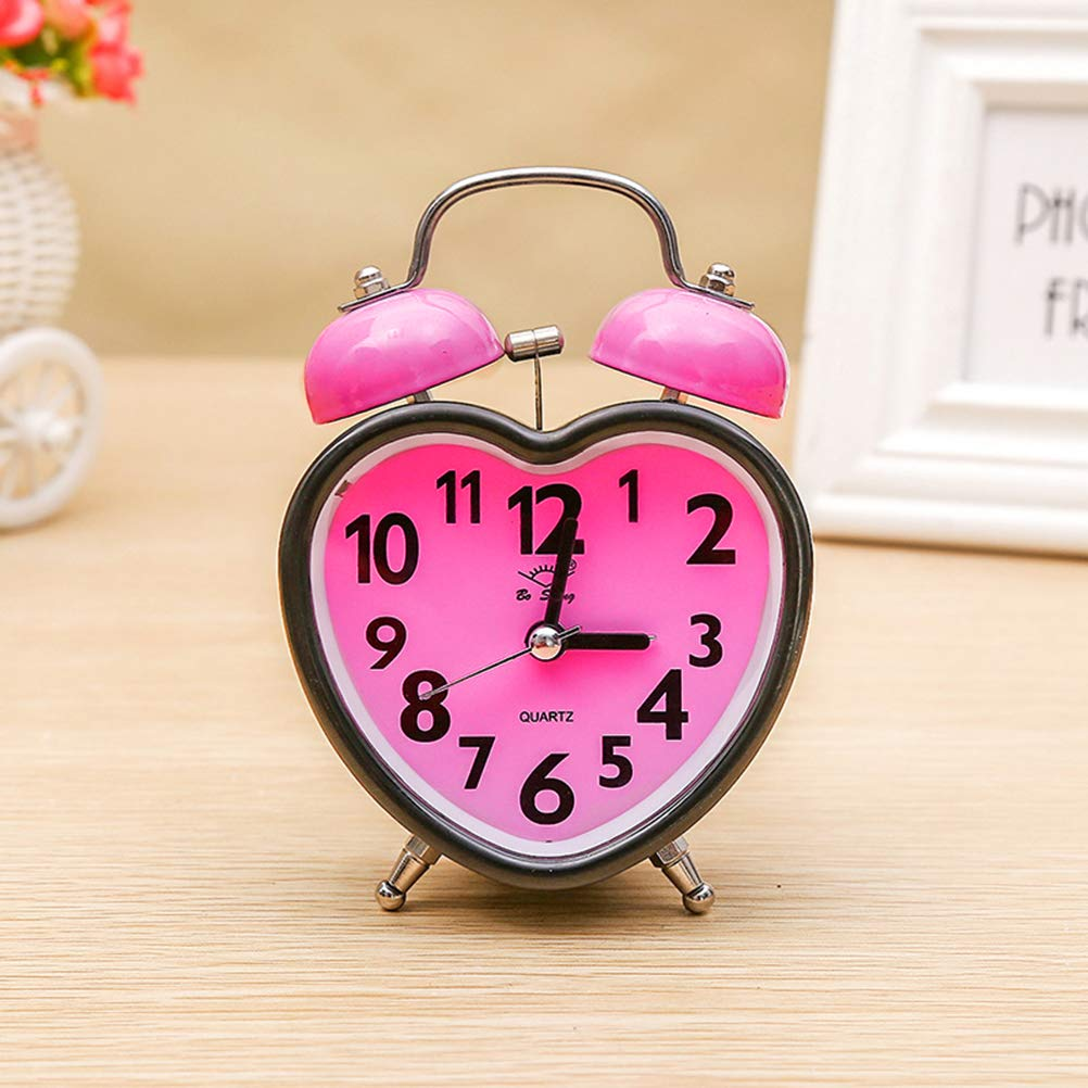 Amazon.com: LIOOBO Alarm Clock for Kids Silent Desk Travel Clock Cute No Ticking Twin Bell Alarm Clock Heavy Sleepers Random Color: Home & Kitchen