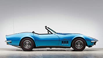 Amazon De Lilarama 1969 Chevrolet Corvette Stingray 427 Convertible V2 Art Leinwandbild