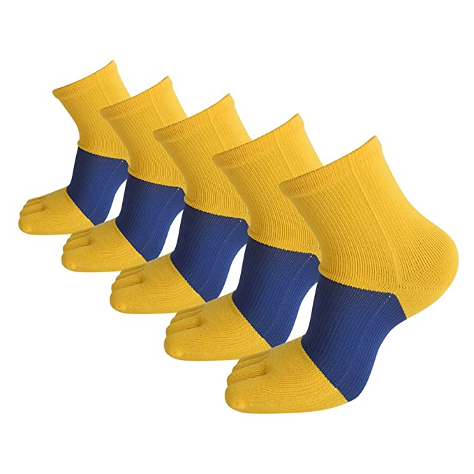 Ruixi Hombres de 5 unidades Five Finger Toe Calcetines de algodón Casual L42 Tamaño libre: Amazon.es: Ropa y accesorios