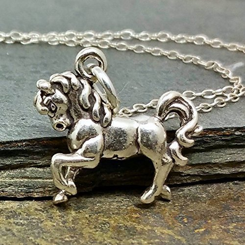 Prancing Horse Necklace - 925 Sterling Silver