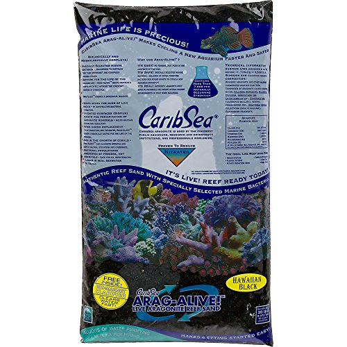 Carib Sea Arag-Alive Substrate, Hawaiian Black, 20 lb.