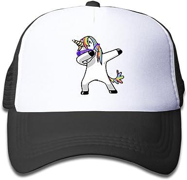 Dabbing Unicorn Trucker Hat Adjustable Back Mesh Cap for Toddler